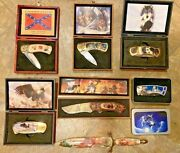 Lockback Pocket Knife Lot Of 7 Knives Boxed Stainless Steel Nos China 2 Misc