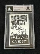 Eddie Montgomery And Troy Gentry Signed Beckett Certified Meet And Greet Pass