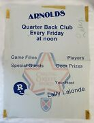 Arnolds Poster Cfl Poster Signed By Lally Lalonde Football Sports Memorabilia