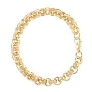 9ct Gold Tight Link Heavy Belcher Bracelet -8.25-9mm Rrp Andpound1600 Bl15_8.25_a...