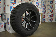 20x10 Fuel D556 Coupler Black Wheels 35 Mt Tires 6x135 Ford F150 Expedition