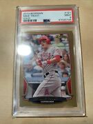 2013 Gold Bowman Mike Trout 121 Gold Psa 9 Mint Angels. Upward Trending Prices
