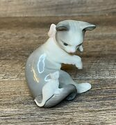 Lladro 5236 Cat And Mouse Retired. Mint Condition Hand Made In Spain. No Box