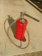 Vintage Antique Gray Oil And Grease Pump Can Lubster Dispenser Free Shipping