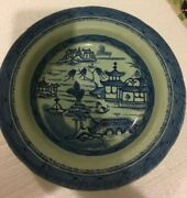 Antique Chinese Export Cobalt Blue Hand Painted Plate