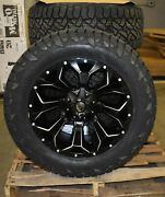 20x10 Fuel D546 Black Assault Wheels 33 At Tires 6x135 Ford F150 Expedition