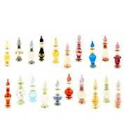 Lot Of 100 Decorative Egyptian Perfume Bottles Mouth Blown Pyrex Glass 2andrdquovintage