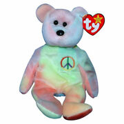 Collector Ty Beanie Baby With Tag Vintage Peace Bear
