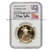 2000-w 50 Gold Eagle Ngc Pf70ucam Ultra Cameo Proof 22kt 1oz Coin Castle Label