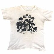 Vintage 60s The Beatles I Want To Hold Your Hand Promotional T Shirt 1963 1960s