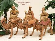 Fontanini Depose Italy Early 5 3 Kings On Camels Nativity Village Figures 51514