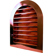 Copper Tombstone Louvered Gable Wall Vent