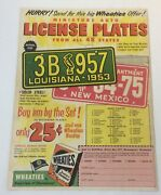 1953 Wheaties License Plates Premiums Ad Page Version 1 Louisiana, New Mexico