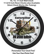 Caterpillar D9r Amored Bulldozer Wall Clock-free Us Ship-choose 1 Of 2