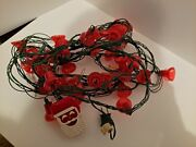 Vintage Cheng Tung Set Of Christmas Music Motion Red Bell Flashing Lights Tested