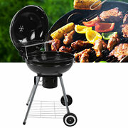 Indoor Outdoor Electric Grill Barbecue Cooking Patio Picnic Cooking 2 Wheels