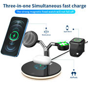 3 In1 Qi Wireless Charger Dock Pad For I Watch Se 6 5 4 Air Iphone 12 Pro Max