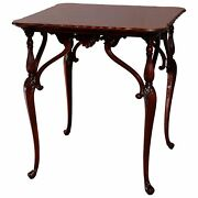 Antique French Empire Carved Mahogany Lamp Table, 19th Century