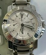 Baume And Mercier 65352 Automatic 200m White Face White Dial Date Adj Men's Watch