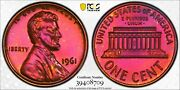 1961 Lincoln Memorial Cent 1c Pcgs Pr 66 Rb Proof Uncirculated Red Brown 709