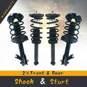 Complete Struts / Shocks And Spring Coils W/ Mounts X4 For Nissan Maxima 2002-03
