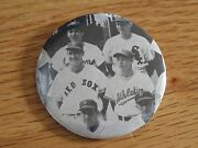 1980s Ted Williams Boston Red Sox 2.5 Bandw Pin / Button