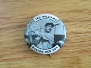 Vintage 50s Ted Williams Boston Red Sox 1.5 Bandw Pin / Button