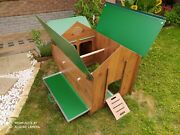 Chicken Coop For 8 Hens In Hpl Laminate For Garden For Educational Farm Washable