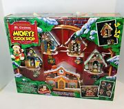 Mr Christmas Holiday Mickey's Clock Shop Music Animated Vintage 1993 New Nos
