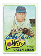 Galen Cisco Signed Topps Baseball Card 1965 364 Auto New York Mets