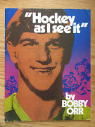 Bobby Orr Hockey As I See It Magazine Boston Bruins Compliments Of Pepsi-cola