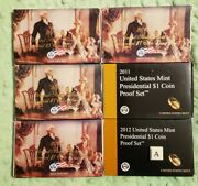 2007 2008 2009 2010 2011 2012 U.s Mint Presidential Dollar Coin Proof Sets 82