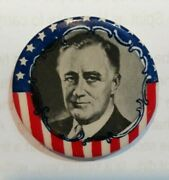 Franklin D Roosevelt Fdr Presidential Campaign Button Pin Pinback Fdr 77