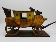Oxford Royal London Stagecoach 19th Century Wood Model Painted 1800and039s Primitive