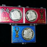 3 Pieces Racing Greats 1 Oz .999 Silver Art Rounds Earnhardt K. Petty Wallace