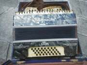 Rare Old Antique Vintage German Accordion Musikmeister 32 Bass Nice Sound Green
