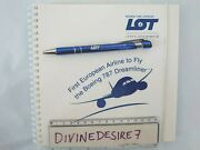 Lot Polish Airlines Boeing 787 Dreamliner Notebook Paper And Pen Star Alliance
