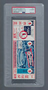 Vintage 1967 World Series Red Sox @ St Louis Cardinals Full Ticket Game 5 - Psa
