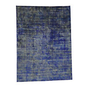 8and0399x12and039 Hand-knotted Pure Sari Silk Modern Design Oriental Rug R34262