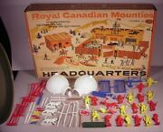 Vintage Ideal Royal Canadian Mounties Headquarters Plastic Playset Play Set 4878