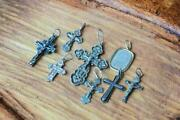 Antique Imperial Russian Sterling Silver 925 Christian Cross Stamped 8pcs Good