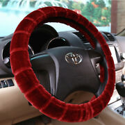 Universal Soft Warm Bamboo Style Faux Fur Car Steering Wheel Cover Decoration