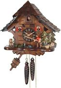 Fisherman  Quality Hand-carved, Traditional German Cuckoo Clock   16-11