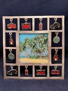 London Dangling Charms Metal Photo Frame 2.75 By 2.75 Nwot