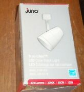 Juno Trac Lites White R600l Dimmable 9.5w Led Cone Track Light Fixture-