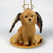Golden Doodle Dog Angel Ornament Hand Painted Resin Figurine Christmas Puppy New