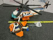 Lego City Coast Guard Helicopter And Life Raft 7738 Set W/rescue Figures And Shark