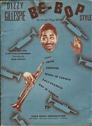 Be-bop 1949 Dizzy Gillespie Trumpet Solo And Piano Accompaniment Sheet Music Book