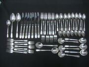 1847 Rogers Bros Is Adoration Silver Plate 49 Piece Flatware Set Spoons Forks