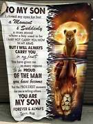 Lion Mom To My Son Blanket Youand039re My Son Forever Birthday Gift For Son Blanket